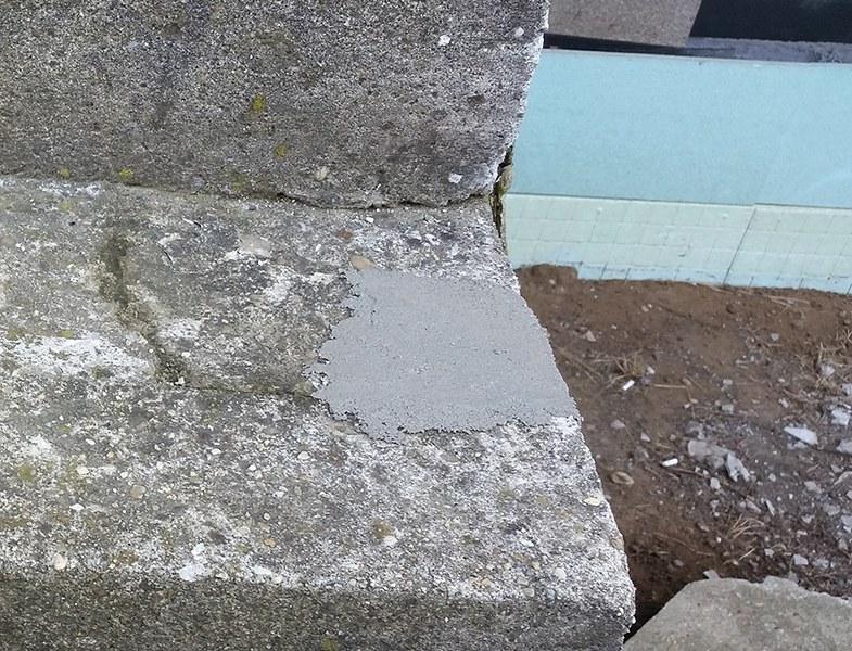 Beton lépcső javítása