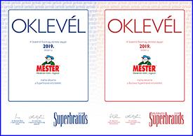 Újra Superbrands sikerek a MESTER márkának